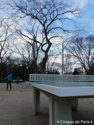 7 公園に卓球はパリの普通