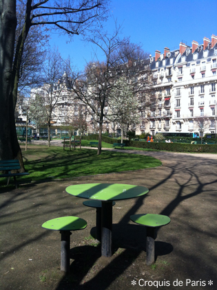 4公園のテラス