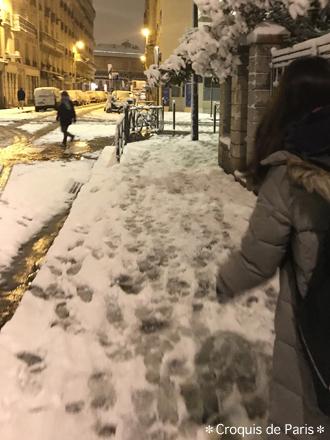 4雪の中を
