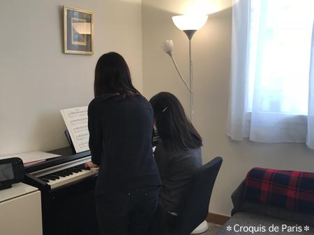 2休憩にピアノ連弾