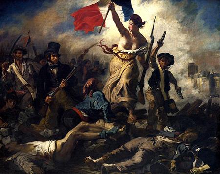 5ドラクロワ「民衆を導く自由の女神」