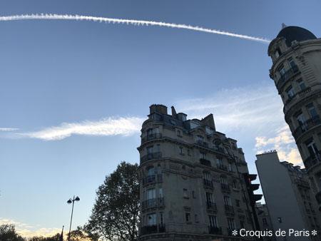 6 朝の飛行機雲
