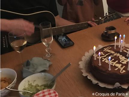 5Tさんのギターでハッピバースディ