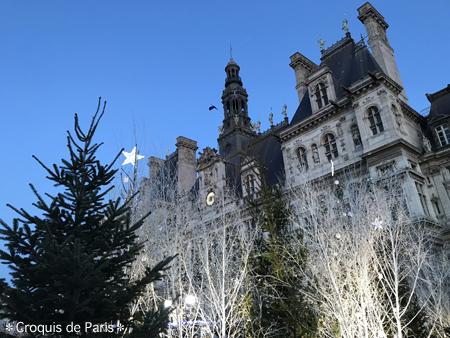 2パリ市庁舎前にやってきました
