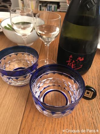 4日本酒をもらって友人の器で乾杯