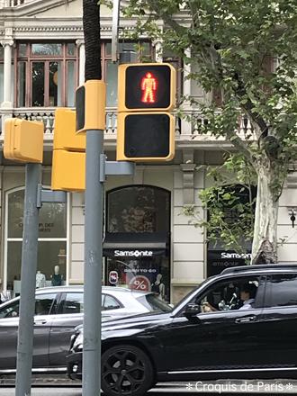 3バルセロナの信号