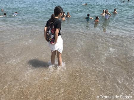 7スペインの海にちゃぽん