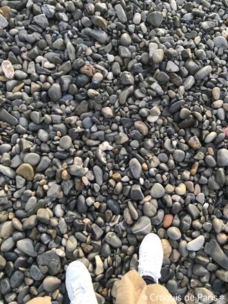 5砂でも砂利でもなく丸い石です